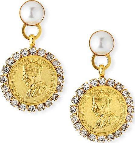 Elizabeth Cole Kyle Coin-Drop Earrings w/ Crystals