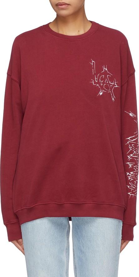 Adaptation 'LA' slogan logo embroidered sweatshirt