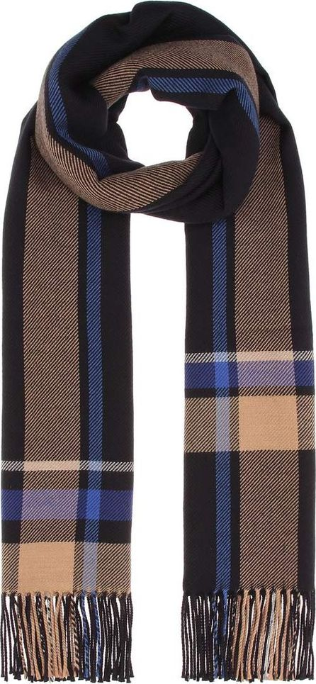 Acne Studios Cesar Check wool and cotton scarf