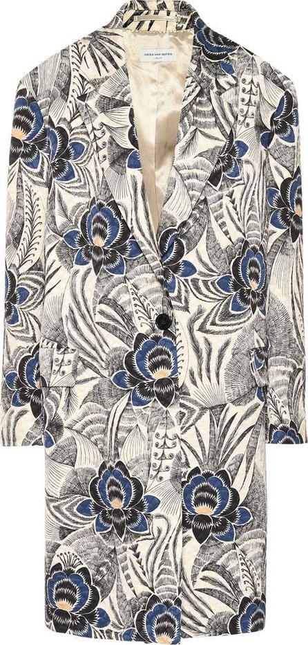 Dries Van Noten Printed jacquard coat
