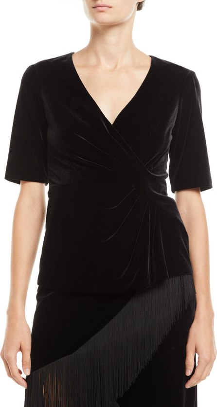 Nanette Lepore Philosophy Stretch Velvet V-Neck Top