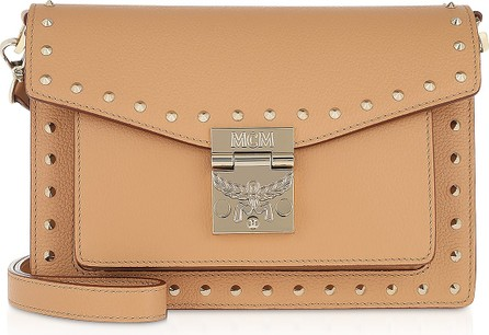 MCM Biscuit Patricia Studded Outline Park Avenue  Small Crossbody