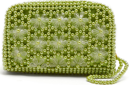 Shrimps Domenica faux-pearl embellished clutch