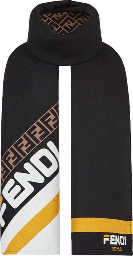 Fendi Fila logo scarf