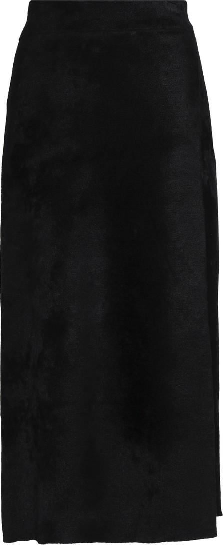 A.L.C. Wrap-effect velvet midi skirt