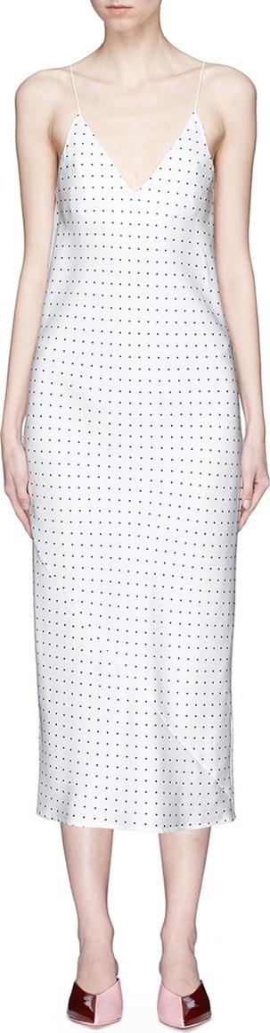 Georgia Alice 'Swimming' polka dot print satin slip dress