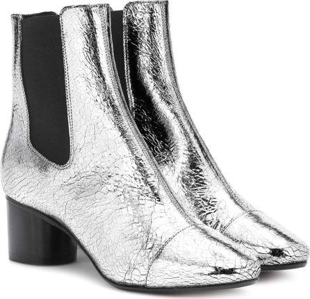 Isabel Marant Danelya metallic leather ankle boots