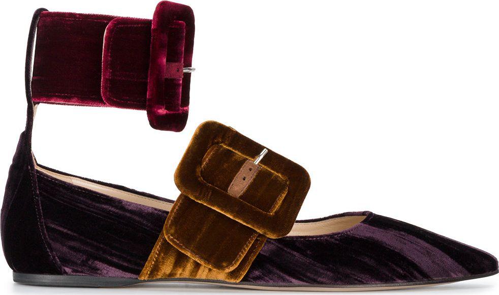 Attico - Mafle double buckle flat pumps