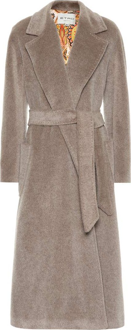 Etro Wool and mohair-blend coat
