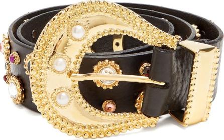 DODO BAR OR Donatella embellished leather belt