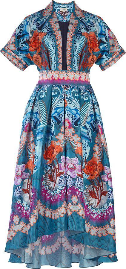 Temperley London Pipe Dream Belt Silk Dress
