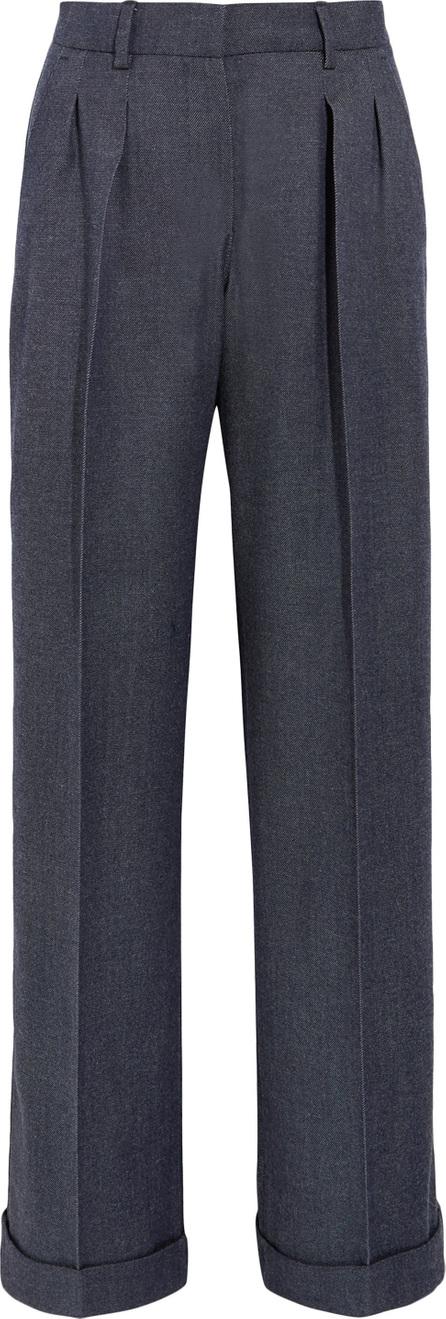 Max Mara Wool-twill wide-leg pants