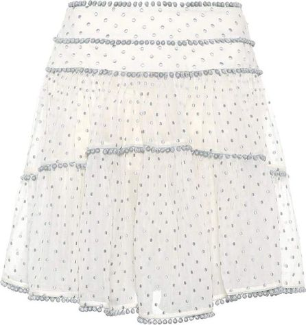 Zimmermann Painted Heart Contour cotton and silk skirt