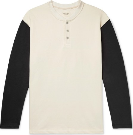 Fear of God Oversized Colour-Block Loopback Cotton-Jersey Henley T-Shirt