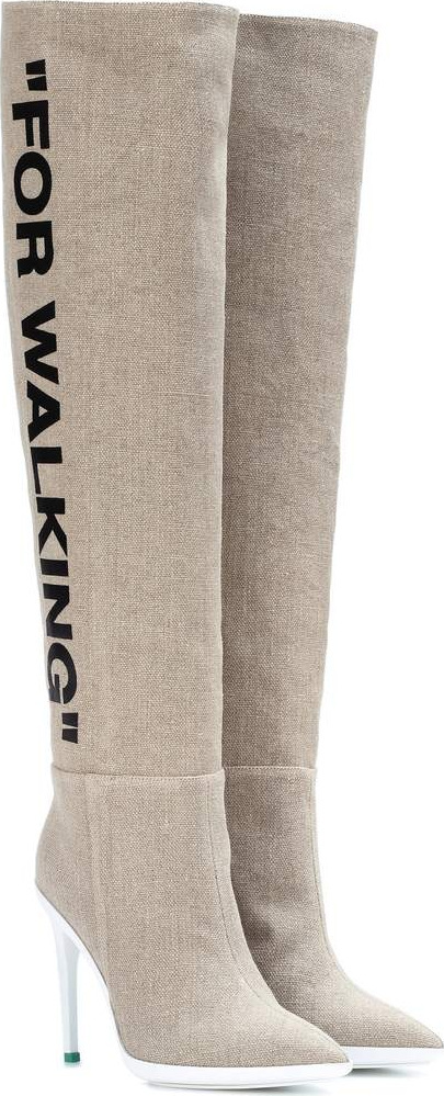 Off White For Walking over-the-knee boots