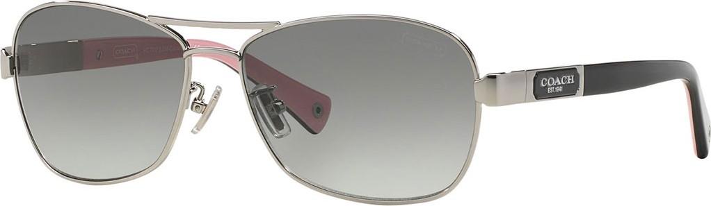 29eca7b79ba COACH Gradient Aviator Sunglasses in Grey - mkt
