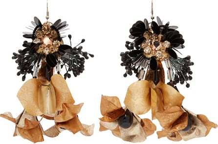 Biyan Tammy beaded-flower drop earrings