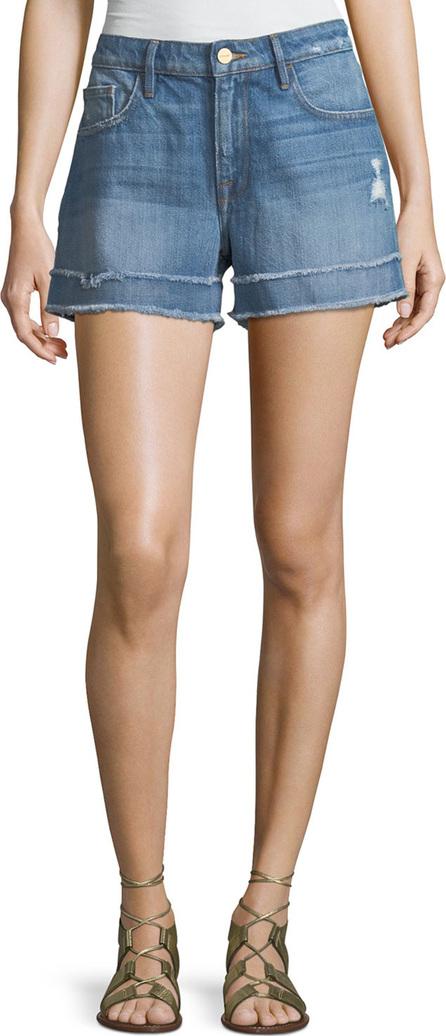 FRAME DENIM Le Grand Garcon Frayed Cuff Denim Shorts