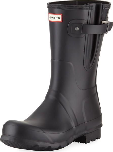 Hunter Boots Men's Original Side-Adjustable Short Boot, Black