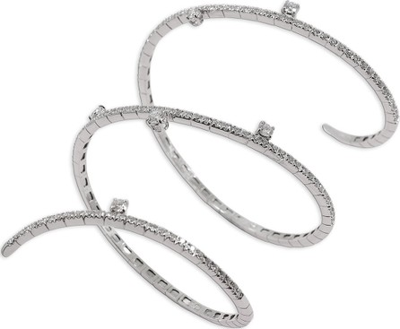 Staurino Fratelli 18k White Gold Diamond Snake Bracelet