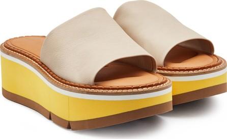 Robert Clergerie Affect Leather Platform Sandals