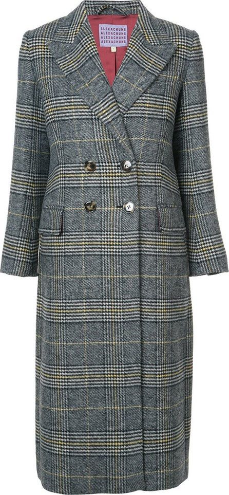 Alexachung plaid double breasted coat
