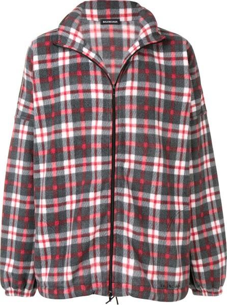 Balenciaga Checked zipped fleece