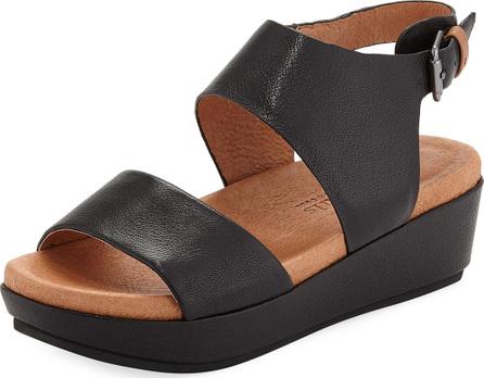Gentle Souls Lori Leather Comfort Wedge Sandal