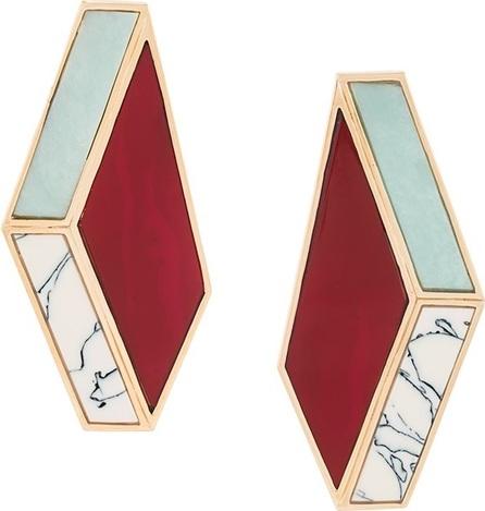 Eshvi Nino Eliava x Eshvi marble effect earrings