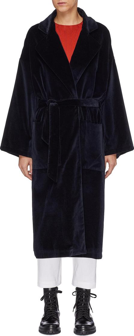 Barena 'Loredan' notched lapel belted velour coat
