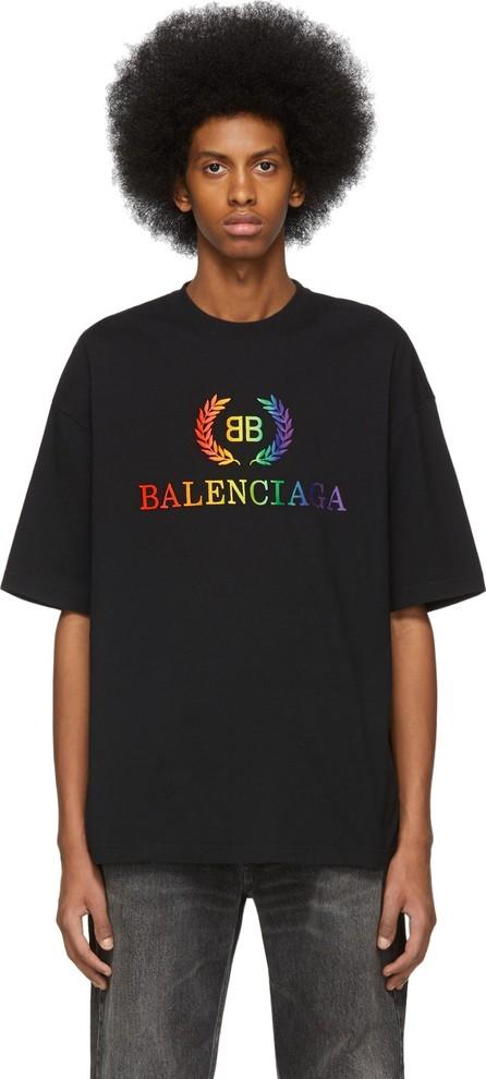 Balenciaga Black Rainbow 'BB' Regular Fit T-Shirt