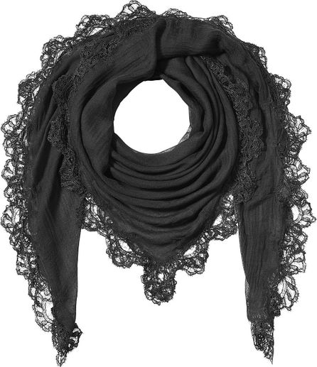 Faliero Sarti Scarf with Silk, Cashmere and Lace