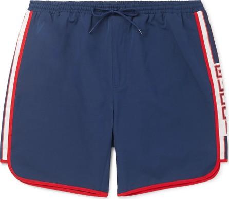 Gucci Short-Length Grosgrain-Trimmed Swim Shorts