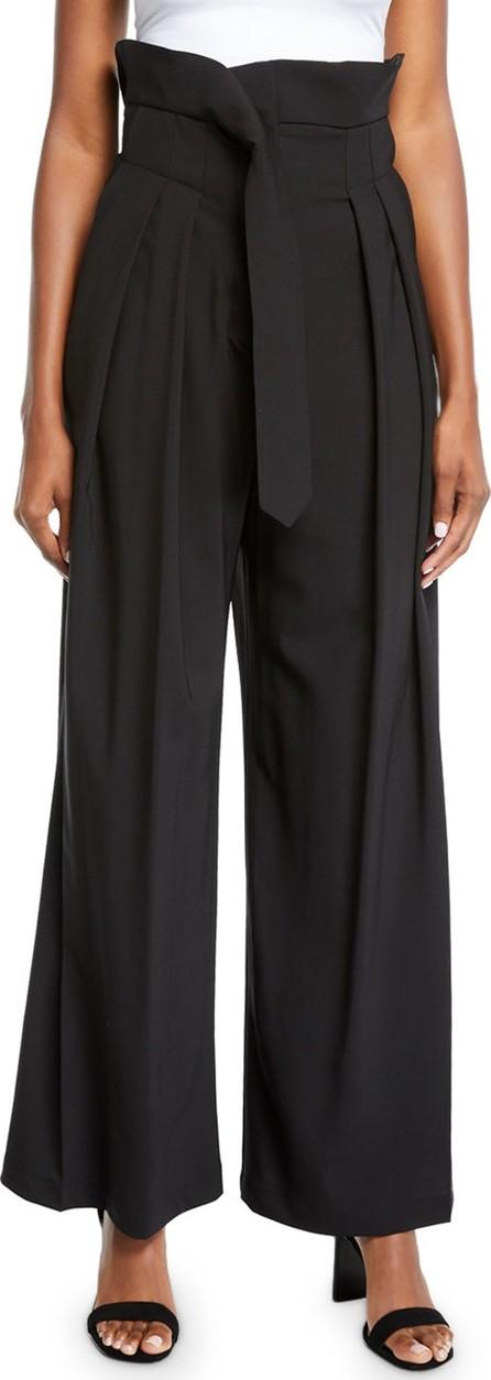 A.W.A.K.E Undone Pleated High-Waist Trousers