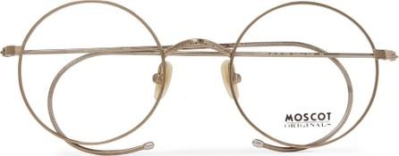 Moscot Hamish Round-Frame Gold-Tone Optical Glasses
