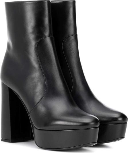 Prada Plateau leather ankle boots