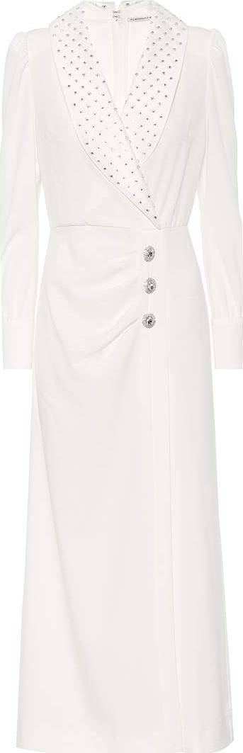 Alessandra Rich Crystal-embellished crêpe dress