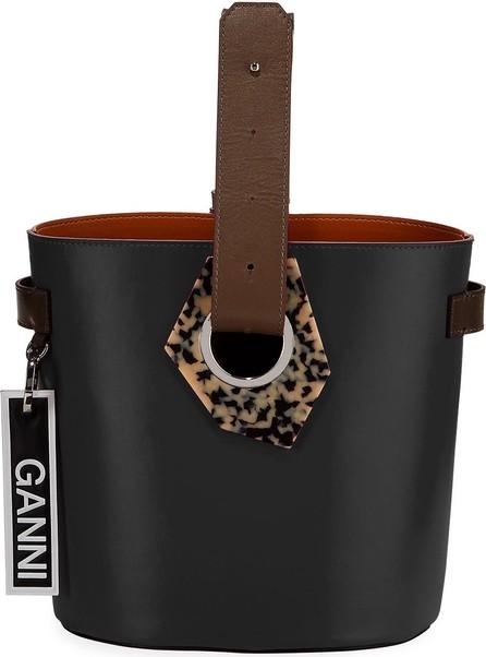 Ganni Leather Open Bucket Bag