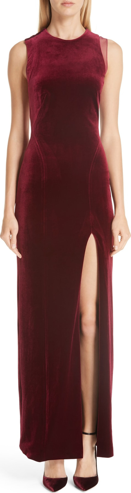 Galvan Crescent Back Cutout Gown