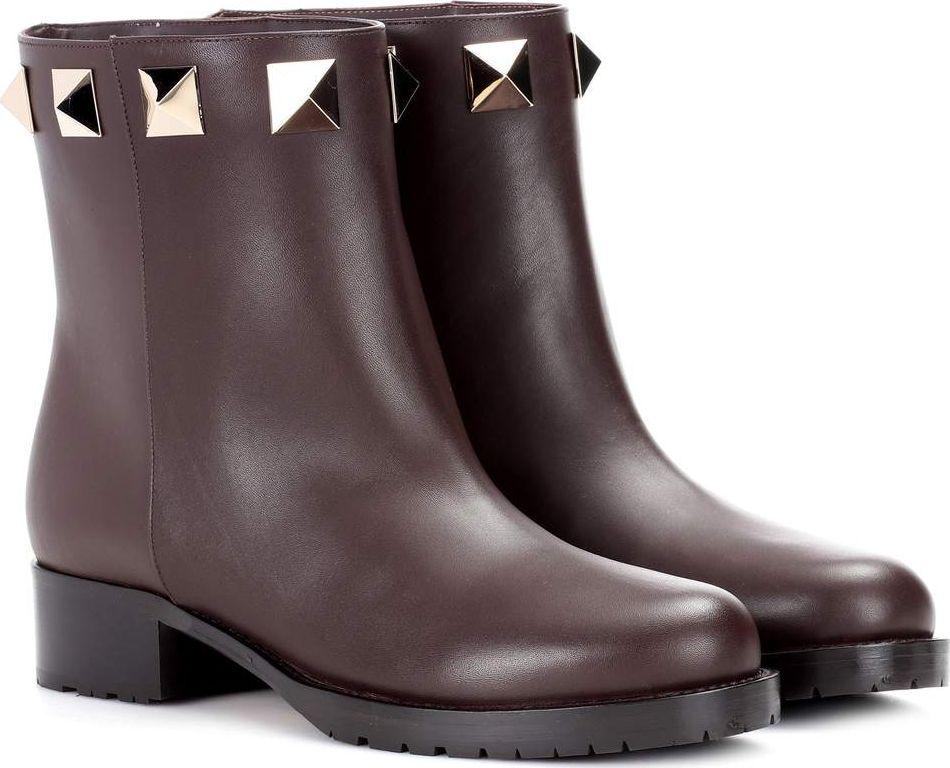 Valentino - Valentino Garavani leather ankle boots