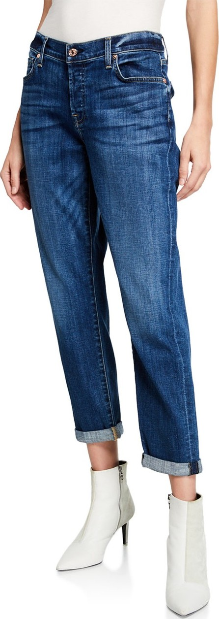 7 For All Mankind Josefina Mid-Rise Cropped Boyfriend Jeans