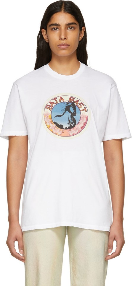 Baja East White Stallion Medallion T-Shirt
