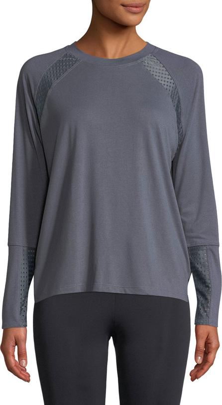 ONZIE Mesh-Panel Long-Sleeve Pullover Sweatshirt
