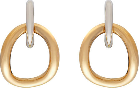 Charlotte Chesnais Inner Naho gold-vermile and silver-plated earrings