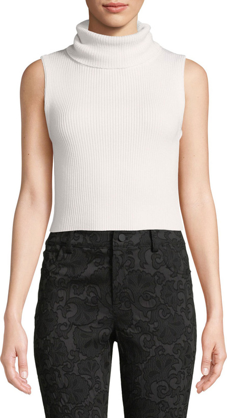 Alice + Olivia Darcey Cropped Turtleneck Sweater