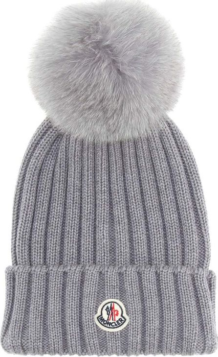 Moncler Fur-trimmed wool hat