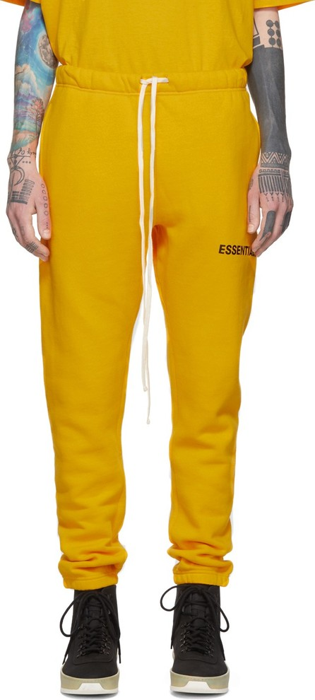 Essentials Yellow Logo Lounge Pants