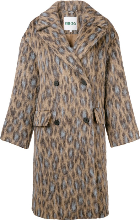 KENZO Leopard-print double-breasted coat