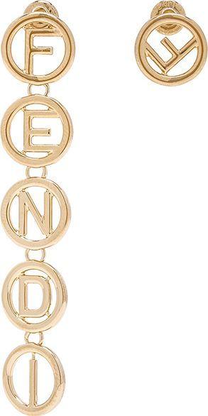 Fendi Logo Drop Earrings