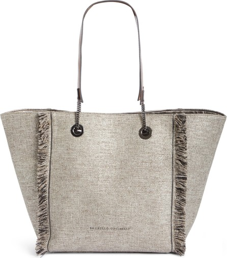Brunello Cucinelli Reversible Fringe Shopper